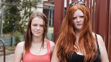Troubled teen Bailey and single mum Erin from <i>Struggle Street</i>.