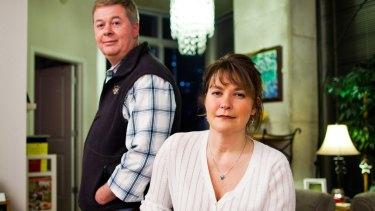 'He saved my life,'€ said Sue Palmer of her husband Tim.