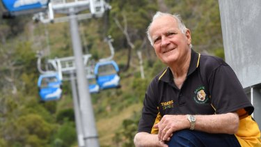 Colin Matthews, of Rosebud, approves of the new Arthurs Seat Eagle cable car, which opens on December 3.