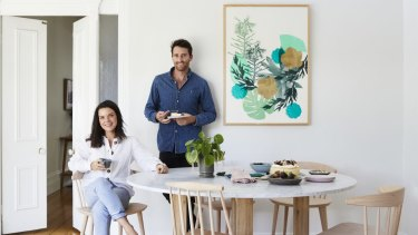 """""""We bought the home four years ago but rented it out for the first two; it was the wonderful natural light that attracted us,"""" says Karina. """"The table is from Coastal Living in Sorrento."""""""