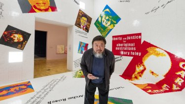 """Ai Weiwei at National Gallery of Victoria exhibition """"Andy Warhol 
