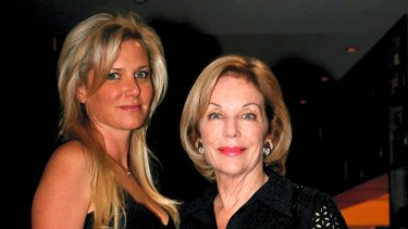 Lizzie Buttrose with her aunt, Ita Buttrose, in 2010.