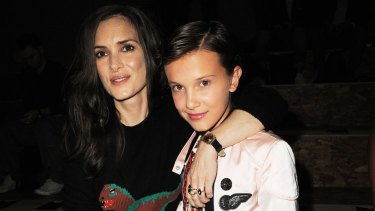 Winona Ryder and Millie Bobby Brown attends the Coach 1941 Women's Spring 2017 Show.