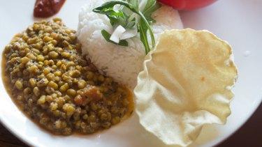 The mixed Thali at Lentil As Anything.