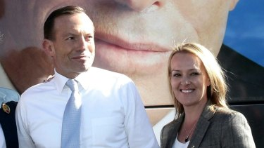 Tony Abbott and Fiona Scott during the 2013 election campaign.