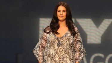 A Maggie T design in Myer's Big is Beautiful show at Mercedes-Benz Fashion Festival in 2011.