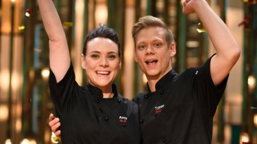 Serious siblings Amy and Tyson were the MKR victors.