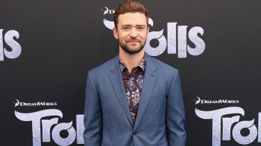 Justin Timberlake at the Australian premiere of his new film, the Dreamworks animation, Trolls.
