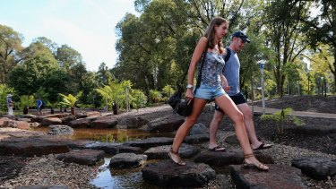Fitzroy Gardens needs more seating, New York parks commissioner says.