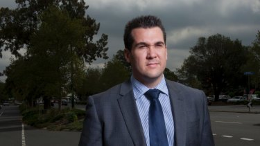 Liberal MP Michael Sukkar in his electorate of Deakin in the outer east of Melbourne.