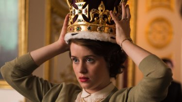 Claire Foy as Queen Elizabeth II in Netflix's The Crown, rumoured to be the most expensive television series ever made.