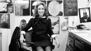 """Helen Gurley Brown, pictured in 1970, believed Reynolds was the only star who could pose naked """"with a twinkle in his eye""""."""