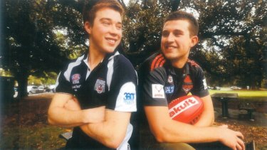 Bomber brothers: Essendon's Zach and Jackson Merrett.