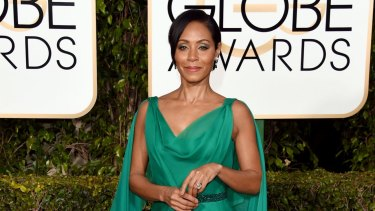 Jada Pinkett Smith, who has questioned whether people of colour should attend the Oscars, attending this year's Golden Globe Awards.