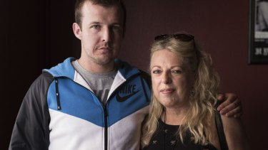 Dane Kowalski's close mate Anthony Hudson with his mother, Vera.