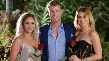 The Bachelor Richie with his final two - Nikki and Alex