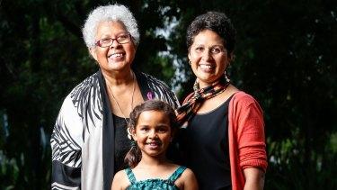 Doseena Fergie with her daughter Safina Stewart and granddaughter Arieta Fergie.