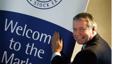 Wayne Sidwell, chair of Wellcom Group, when it listed on the ASX in 2005.