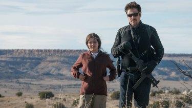 Benicio Del Toro as Alejandro Gillick and Isabela Moner as Isabel Reyes in Sicario: Day Of The Soldado.