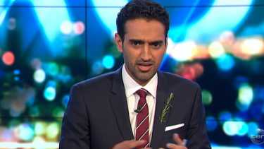 Waleed Aly questioned Paul Moder over a Facebook post referring to Martin Bryant as the 'alleged' Port Arthur killer.