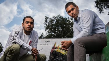 Youth leaders: Just Reinvest ambassador Beau Foster (left) with Kool Kids Club worker Keenan Mundine.