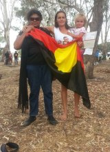 Marianne Headland Mackay (right) says the Heirisson Island protests are not illegal camping.