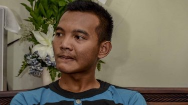 Aldi Tardiansyah freed himself from the grasp of a suicide bomber.