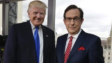 Donald Trump with Fox News anchor Chris Wallace.