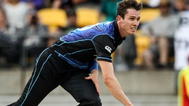 New fast bowler Adam Milne.