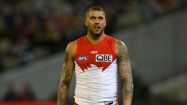 Quiet night: Lance Franklin had little impact for the Swans in the semi-final against Geelong.