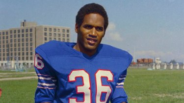 Sporting days: OJ Simpson played in the National Football League for over a decade.