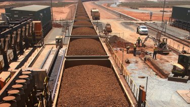 Iron ore exports are booming through Port Hedland. Photo: Bloomberg