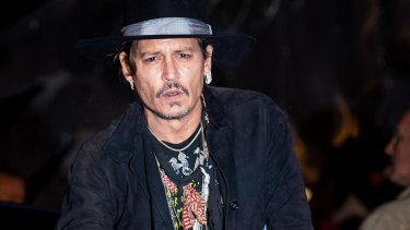 Johnny Depp at Glastonbury, where he made controversial remarks about Donald Trump.