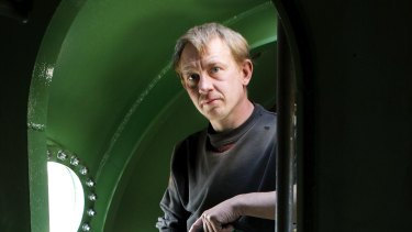 Submarine owner Peter Madsen inside the vessel in 2008.