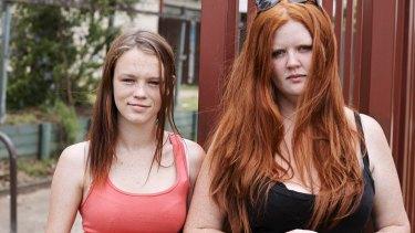 Single mum Erin (right) has taken homeless teenager Bailee (left) under her wing.