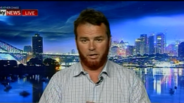 Nick Folkes on <i>The Bolt Report</I> on Monday night before his interview ended abruptly.