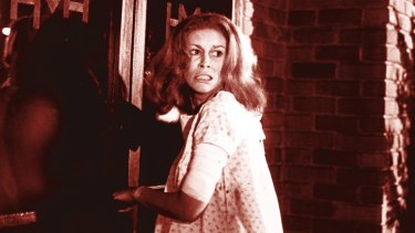 Jamie Lee Curtis in the original <i>Halloween</i>.