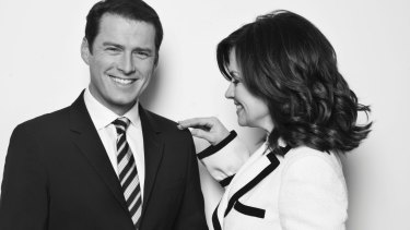 Karl Stefanovic with former co-anchor Lisa Wilkinson, in 2011.