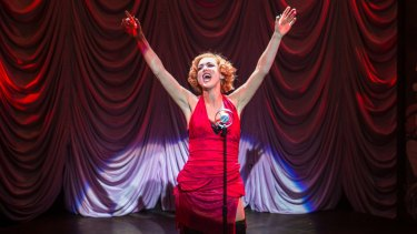 Almost overshadowed: Chelsea Gibb as Sally Bowles.