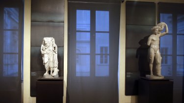 "A kind of "" classics coverup "" is causing a political flap in Italy, after ancient nude statues in a museum were hidden from view so the Iranian president would not take offense."