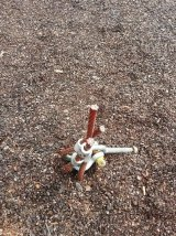 Part of a playground in Greenway is temporarily closed due to vandalism.