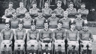 Paul Higgins, pictured third from right in the back row, while a schoolboy at Assumption College. Pictured on the far left in the front row is Francis Bourke, who went on to play 300 games for Richmond.