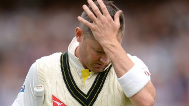 Defended his shot choice: Michael Clarke.