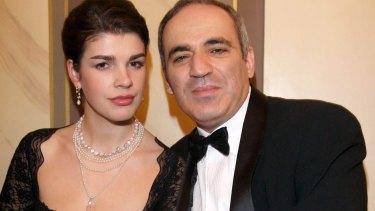 Kasparov with his third wife, Daria.