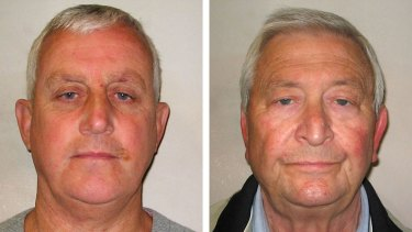 Daniel Jones, left, and Terry Perkins after their arrest in London last year.