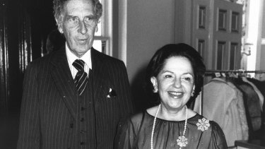Sir Warwick and Lady Fairfax at Government House in 1980.