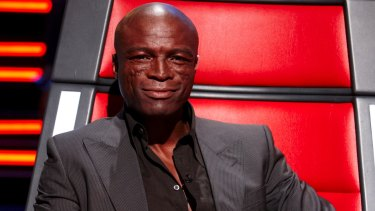 Back in the red chair: Seal on <i>The Voice Australia</i>.