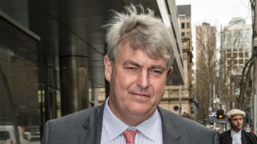 Nicholas Sampson, headmaster of Cranbrook, leaves the Royal Commission in September 2015.