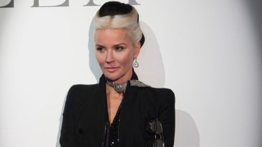 Daphne Guinness at a preview of the upcoming Isabella Blow: A Fashionable Life exhibition at the Powerhouse Museum.
