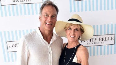 Taxpayers footed the bill ... David Panton and Julie Bishop at the Portsea Polo in 2016.